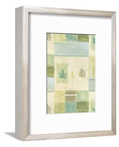 Leaves on Quilted Background--Framed Art Print