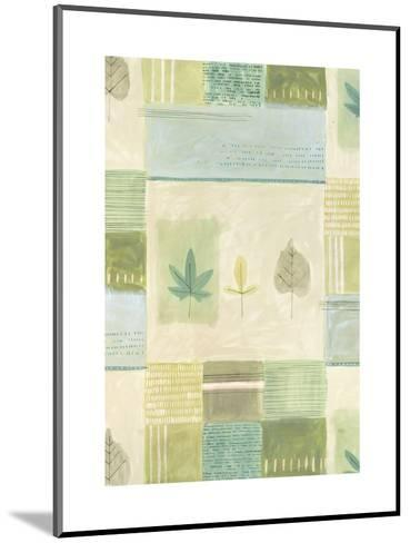 Leaves on Quilted Background--Mounted Art Print