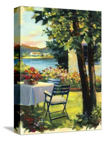 Table and Chairs with Flowers--Stretched Canvas Print