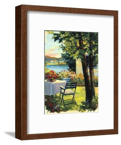Table and Chairs with Flowers--Framed Art Print