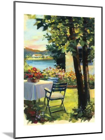 Table and Chairs with Flowers--Mounted Art Print
