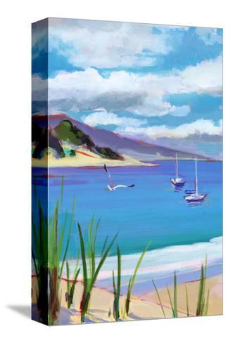 Coastal Scene with Boats--Stretched Canvas Print
