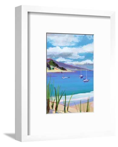 Coastal Scene with Boats--Framed Art Print