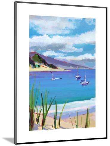 Coastal Scene with Boats--Mounted Art Print