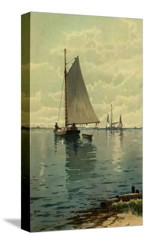 Sailboat Painting--Stretched Canvas Print