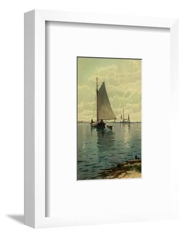 Sailboat Painting--Framed Art Print