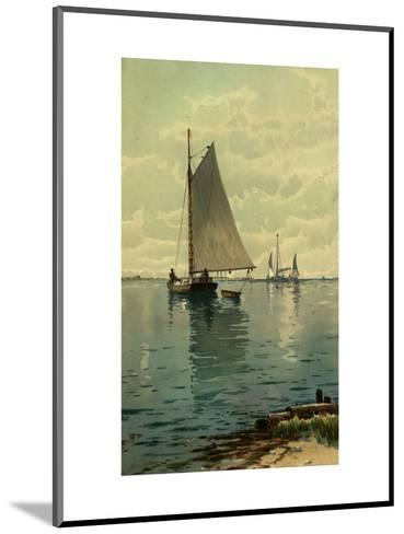 Sailboat Painting--Mounted Art Print