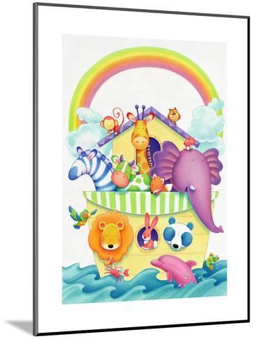 Cute Animals on Ark--Mounted Art Print