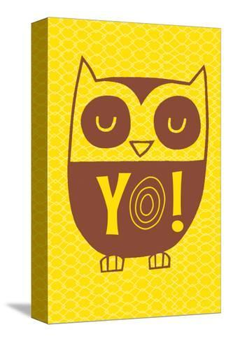 Graphic Cool Owl--Stretched Canvas Print