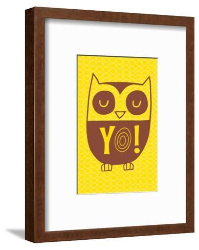 Graphic Cool Owl--Framed Art Print