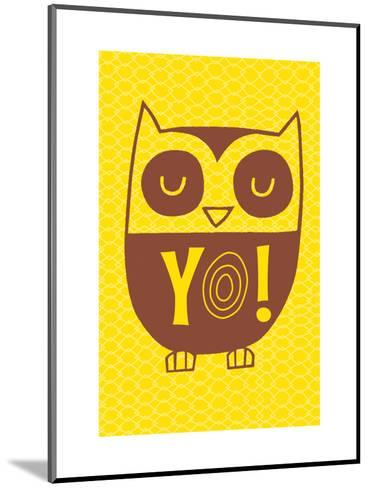 Graphic Cool Owl--Mounted Art Print