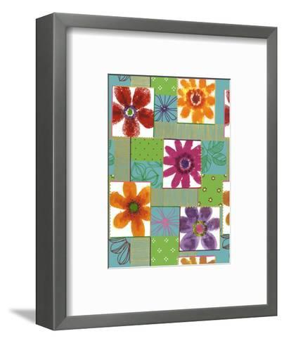 Colorful Flowers in Boxes--Framed Art Print
