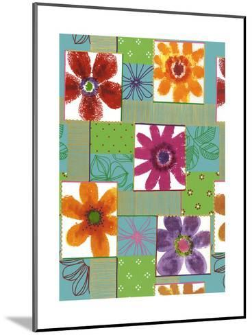 Colorful Flowers in Boxes--Mounted Art Print