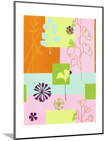 Floral Designs on Colors--Mounted Art Print
