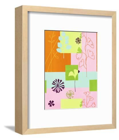 Floral Designs on Colors--Framed Art Print