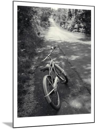 Bicycle Along Road--Mounted Photo