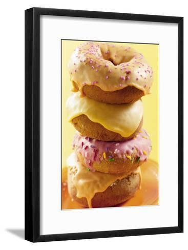 Stacked Iced Doughnuts--Framed Art Print