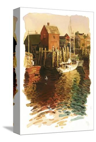 Sailboats in Harbor--Stretched Canvas Print