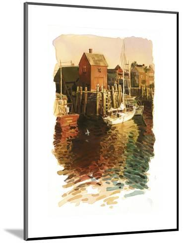 Sailboats in Harbor--Mounted Art Print