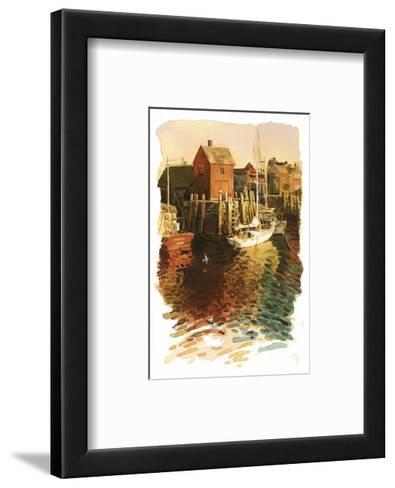 Sailboats in Harbor--Framed Art Print