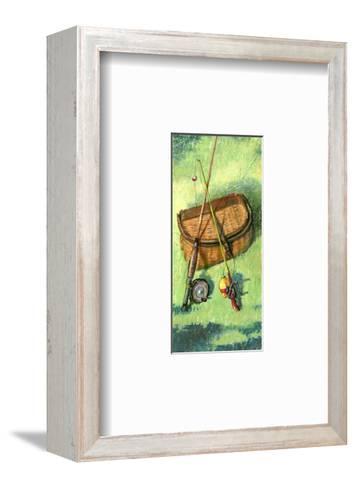 Fishing Basket and Rods--Framed Art Print
