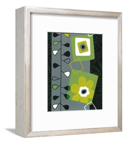 Squares with Floral Pattern--Framed Art Print