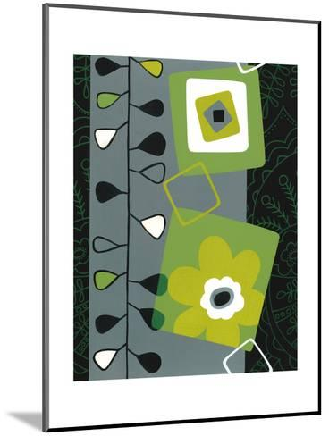 Squares with Floral Pattern--Mounted Art Print
