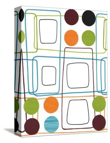 Geometric Squares and Dots--Stretched Canvas Print