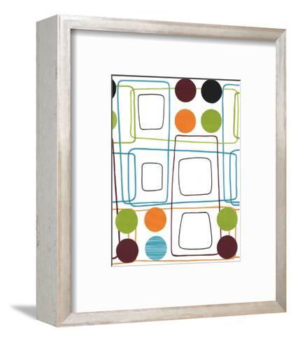 Geometric Squares and Dots--Framed Art Print