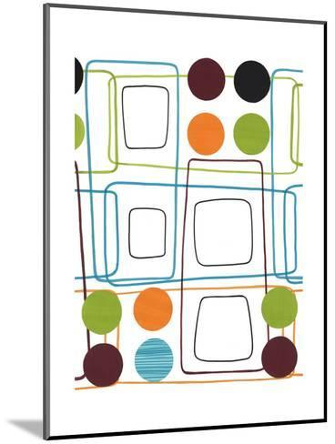 Geometric Squares and Dots--Mounted Art Print