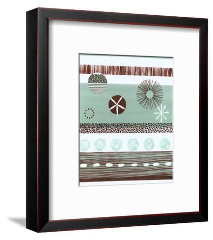 Brown and Green Abstract--Framed Art Print