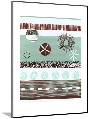 Brown and Green Abstract--Mounted Art Print