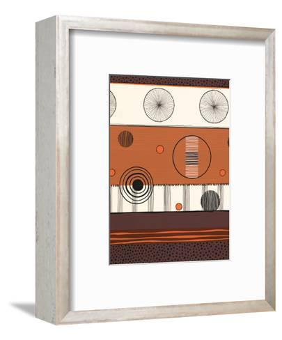 Brown and Orange Circles--Framed Art Print