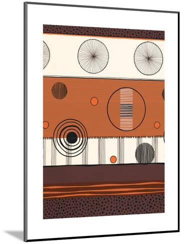 Brown and Orange Circles--Mounted Art Print
