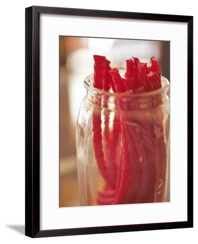 Red Licorice in Glass Jar--Framed Art Print