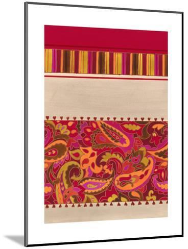 Paisley and Stripe Pattern--Mounted Art Print