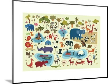 Zoo Animals--Mounted Art Print