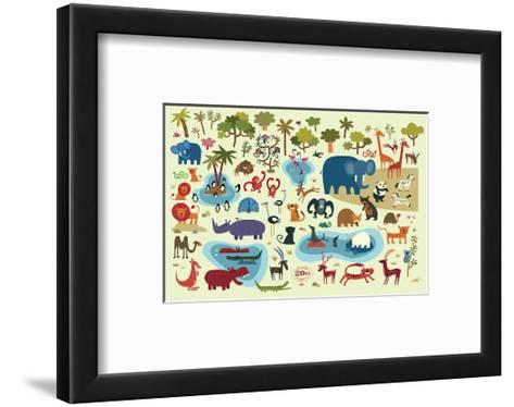 Zoo Animals--Framed Art Print