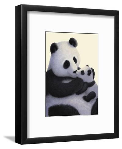 Panda Bear and Cub--Framed Art Print