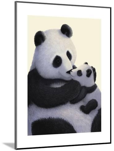 Panda Bear and Cub--Mounted Art Print