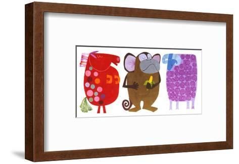 Horse, Monkey, Ram--Framed Art Print