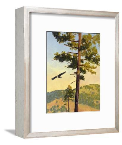 Eagle Flying by a Tree--Framed Art Print