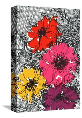Graphic Floral Illustration--Stretched Canvas Print