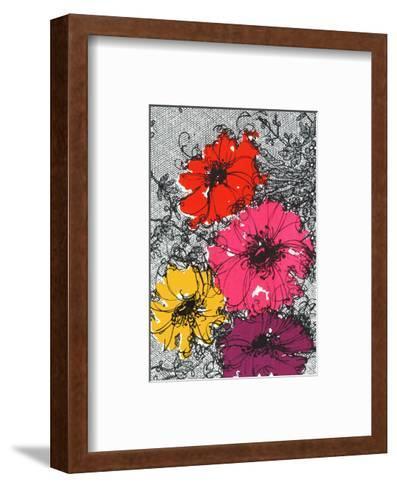 Graphic Floral Illustration--Framed Art Print