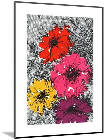 Graphic Floral Illustration--Mounted Art Print