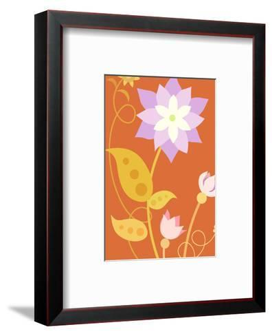Flowers with Stems and Leaves--Framed Art Print