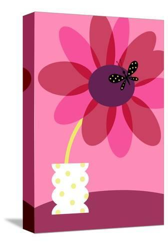 Blooming Flower in Vase--Stretched Canvas Print
