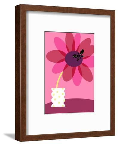Blooming Flower in Vase--Framed Art Print