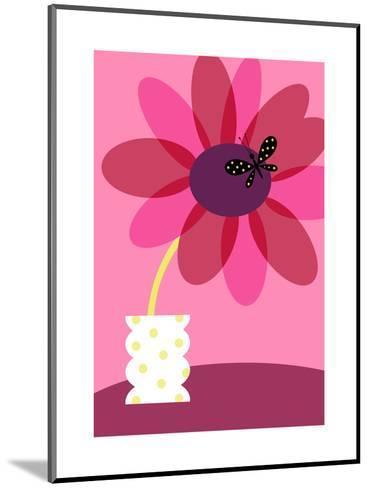 Blooming Flower in Vase--Mounted Art Print