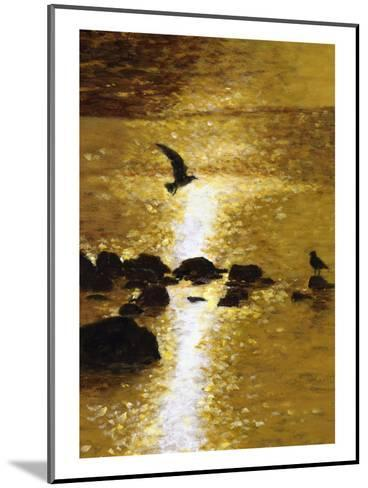 Seagull Flying over Water--Mounted Art Print